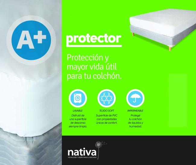PROTECTOR DE COLCHÓN A+ IMPERMEABLE Nativa