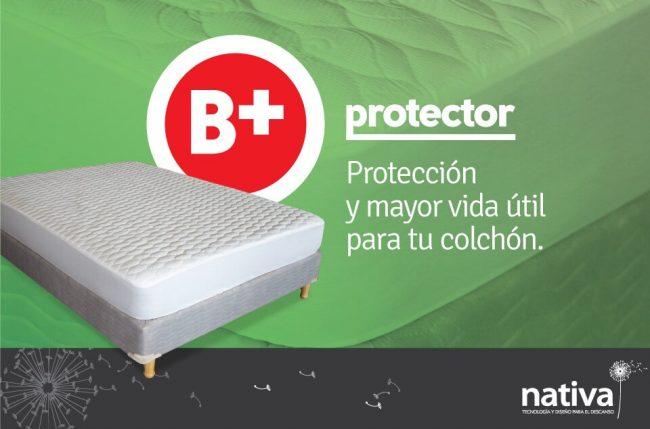 PROTECTOR DE COLCHÓN B+ - TELA DE PUNTO Nativa