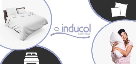 Banner publicitario sobre la marca Sommiers y almohadas marca Inducol